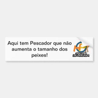 Sincere Fishing adhesive Bumper Sticker