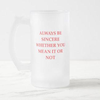 SINCERE FROSTED GLASS BEER MUG