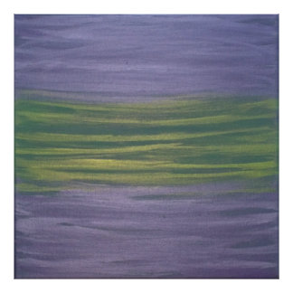 Sincere Original Handpainted Purple Green Abstract Poster