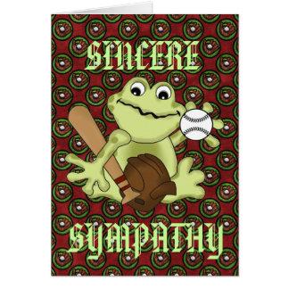 SINCERE SYMPATHY GREETING CARD