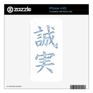 Sincere-truthful-Faithful iPhone 4S Decals