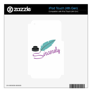Sincerely Decal For iPod Touch 4G