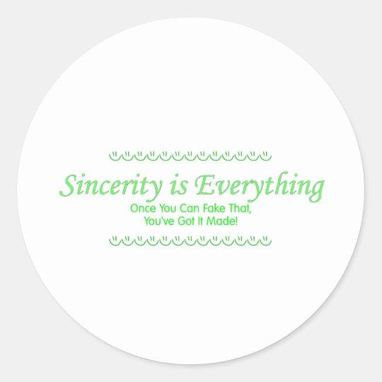 sincerity_green classic round sticker