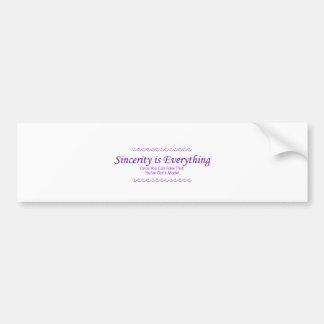 sincerity_purple bumper sticker