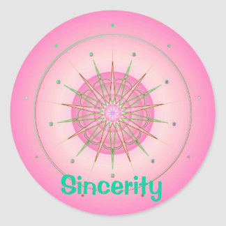 Sincerity (Virtue sticker) Classic Round Sticker
