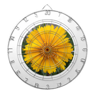"""Sincerity Yellow of yellow flower love"" flower ""s Dartboards"