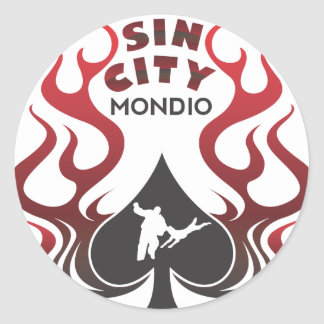 sincitymondio_outline classic round sticker