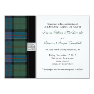Sinclair Ancient Hunting Tartan Wedding Invitation