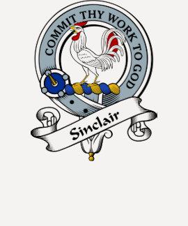 Sinclair Clan Badge T Shirts