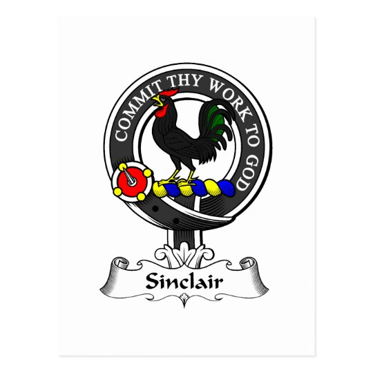 Sinclair Clan Crest Postcard