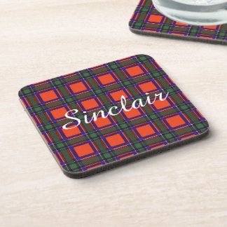 Sinclair clan Plaid Scottish tartan Coaster