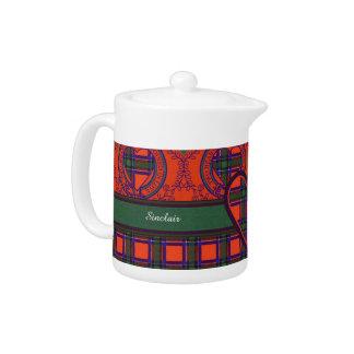 Sinclair clan Plaid Scottish tartan Teapot