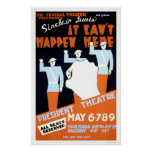Sinclair Lewis Play 1937 WPA Poster