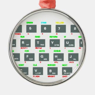 Sinclair ZX Spectrum Keyboard Keys Metal Ornament
