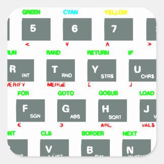 Sinclair ZX Spectrum Keyboard Keys Square Sticker