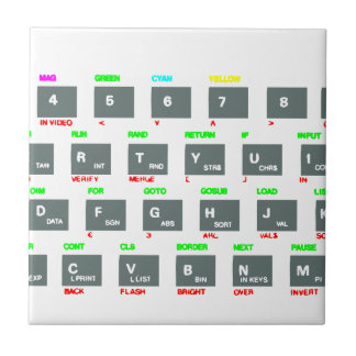 Sinclair ZX Spectrum Keyboard Keys Tile