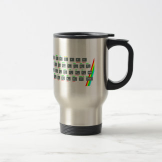 Sinclair ZX Spectrum Keyboard Keys Travel Mug