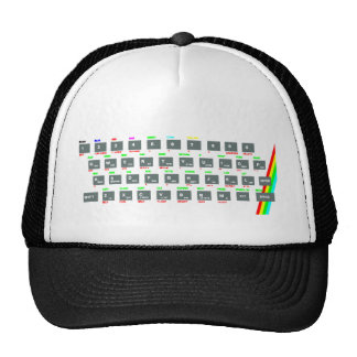 Sinclair ZX Spectrum Keyboard Keys Trucker Hat