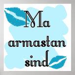 Sind armastan del mA - estonio - te amo Poster