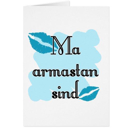 Sind armastan del mA - estonio - te amo Tarjetas