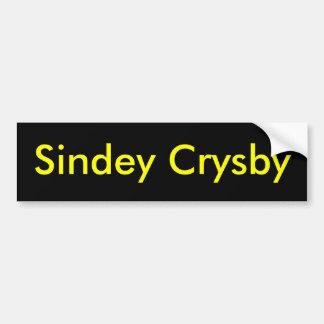 Sindey Crysby Pegatina Para Auto