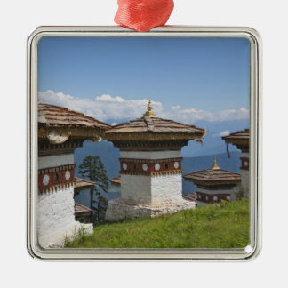 Sindokha Dzong, Dochu La Pass 2 Square Metal Christmas Ornament