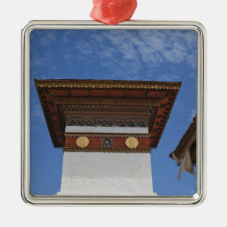 Sindokha Dzong, Dochu La Pass Square Metal Christmas Ornament