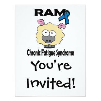 """Síndrome crónico del cansancio de RAM Invitación 4.25"""" X 5.5"""""""