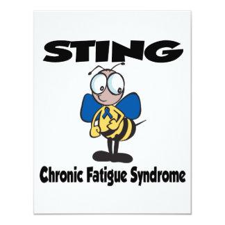 """Síndrome crónico del cansancio de STING Invitación 4.25"""" X 5.5"""""""