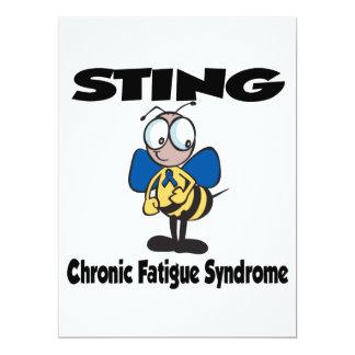 """Síndrome crónico del cansancio de STING Invitación 6.5"""" X 8.75"""""""