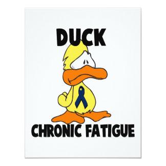 """Síndrome crónico del cansancio del pato invitación 4.25"""" x 5.5"""""""