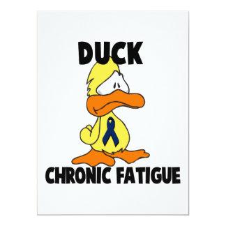 """Síndrome crónico del cansancio del pato invitación 6.5"""" x 8.75"""""""