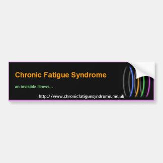 Síndrome crónico del cansancio pegatina para auto