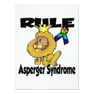 Síndrome de Asperger de la regla Invitación 16,5 X 22,2 Cm