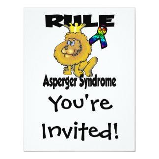 Síndrome de Asperger de la regla Invitación 10,8 X 13,9 Cm