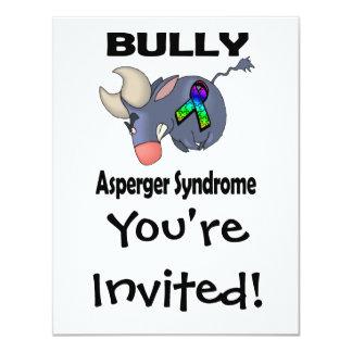 Síndrome de Asperger del matón Invitación 10,8 X 13,9 Cm
