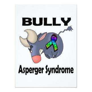 Síndrome de Asperger del matón Invitación 16,5 X 22,2 Cm
