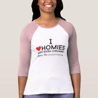 Síndrome de Down: Amo homies con el chromiesTM T-shirt