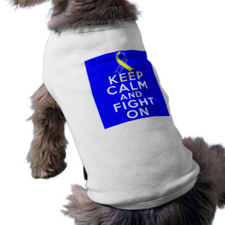 Síndrome de Down guarda calma y sigue luchando Camiseta De Perrito
