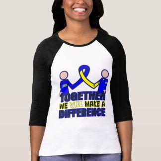 Síndrome de Down juntos diferenciaremos Tshirts
