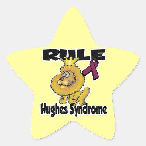 Síndrome de Hughes de la regla Pegatina En Forma De Estrella