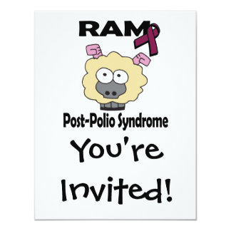 """Síndrome de la Poste-Poliomielitis de RAM Invitación 4.25"""" X 5.5"""""""