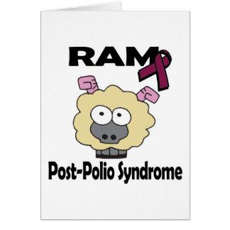 Síndrome de la Poste-Poliomielitis de RAM Tarjeta De Felicitación