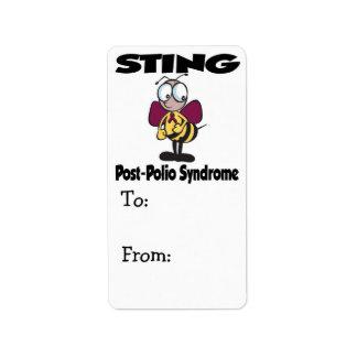 Síndrome de la Poste-Poliomielitis de STING Etiquetas De Dirección