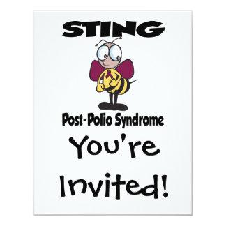 """Síndrome de la Poste-Poliomielitis de STING Invitación 4.25"""" X 5.5"""""""