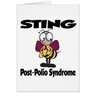 Síndrome de la Poste-Poliomielitis de STING Tarjeta De Felicitación
