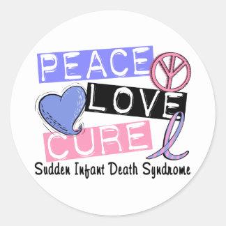 Síndrome de muerte súbita infantil de la curación pegatina redonda