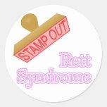 Síndrome de Rett Etiquetas Redondas