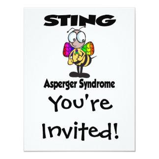 Síndrome de STING Asperger Invitación 10,8 X 13,9 Cm