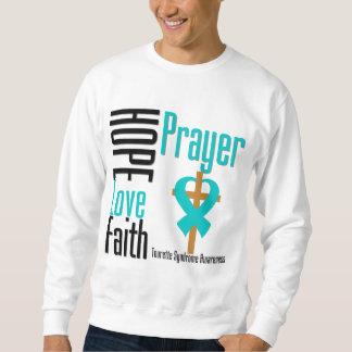 Síndrome de Tourette del rezo de la fe del amor de Sudadera